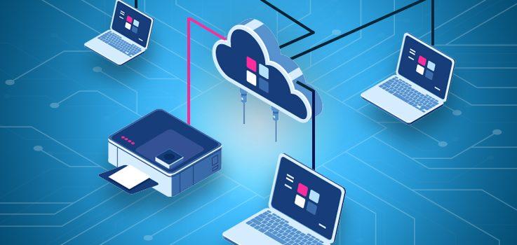 Computer collegati alla stampante tramite Cloud