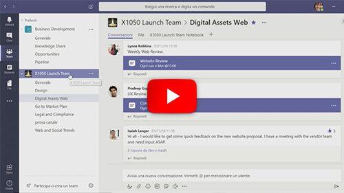 01 – Panoramica generale di Microsoft Teams
