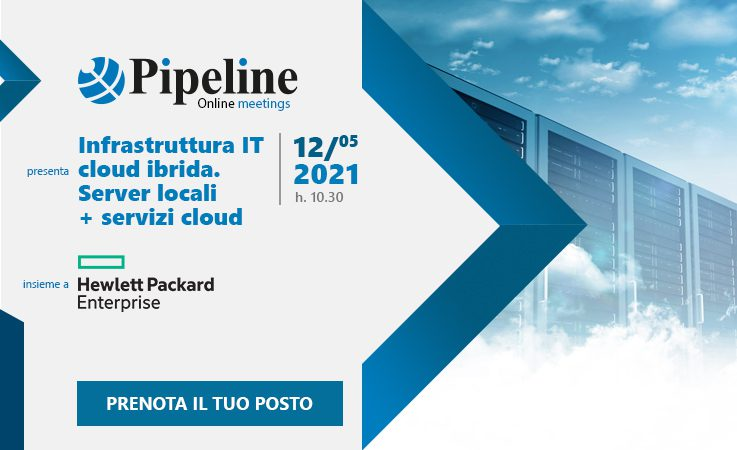 Infrastruttura IT cloud ibrida. Server locali + servizi cloud